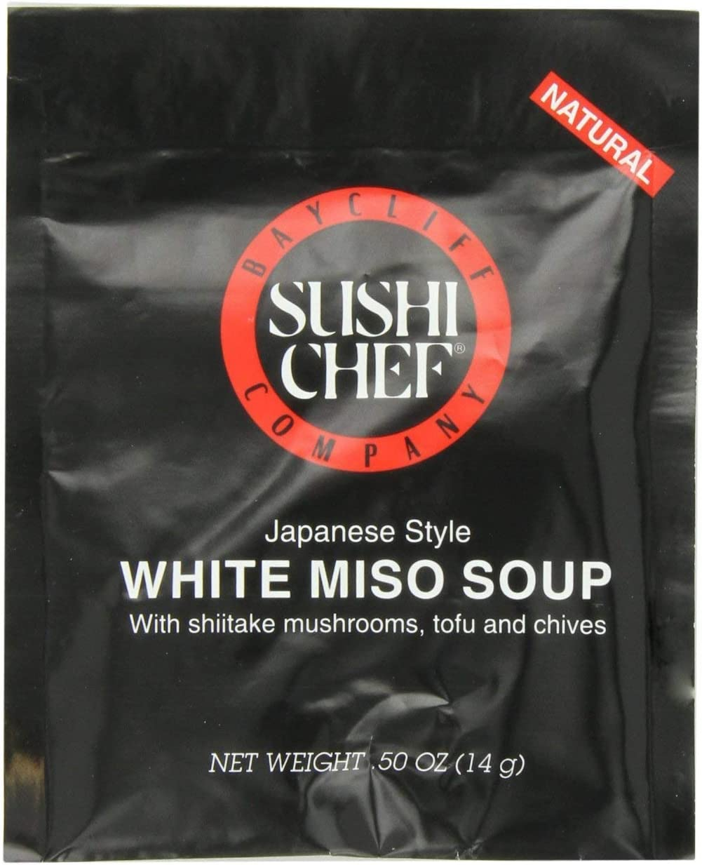 Sushi Chef White Super sale period limited Miso Soup Mix 0.50-Ounce Packets 12 Award-winning store Pack of