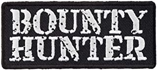 Bounty Hunter Black & White Patch, Embroidered Patches