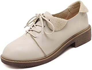 4a26e6dc4cb T-JULY Women s Western Oxfords Shoes - Lightweight Lace-up Low Heel Dress  Elegance