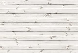AOFOTO 6x4ft White Wood Plank Photography Background Vintage Wooden Panel Backdrop Hardwood Wall Fence Floor Board Still Life Shooting Decor Infant Newborn Portrait Photo Studio Props Vinyl Wallpaper