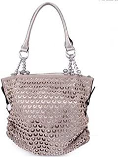 Premium Bling Bling Rhinestone Studded Fashion Tote Bag with Zipper Closure in Multi-Color