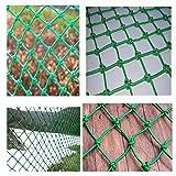 KSWD Filet de sécurité pour Enfants, Filet de Balcon décoration clôture Filet de Protection Filet de séparation Filet Anti-Chute Filet d'escalade Filet de Corde de Chanvre-2 * 6M(7 * 20ft)
