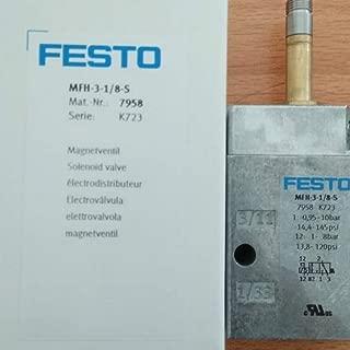 Festo Solenoid Valve MFH-3-1/8-S (7958), New in Box, One Year Warranty!