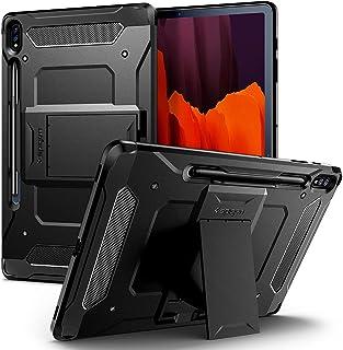 Spigen Tough Armor Pro Designed for Samsung Galaxy Tab S7 Plus Case with Pen Holder (2020) - Black