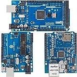 SunFounder Mega 2560 R3 ATmega2560-16AU Board Bundled with R3 Board and Ethernet Shield W5100 for Arduino