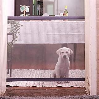 Nesee Magic Gate for Dogs, Pet Gate,Magic Gate Portable Folding mesh gate Safe Guard Isolated Gauze Indoor and Outdoor Safety Gate Install Anywhere for Dogs(Ship from US)