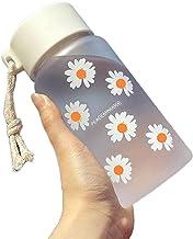 Waterfles 500 ml Kleine Daisy Transparante Plastic Waterflessen BPA Gratis Creatieve Frosted Water Fles Met Draagbare Touw...
