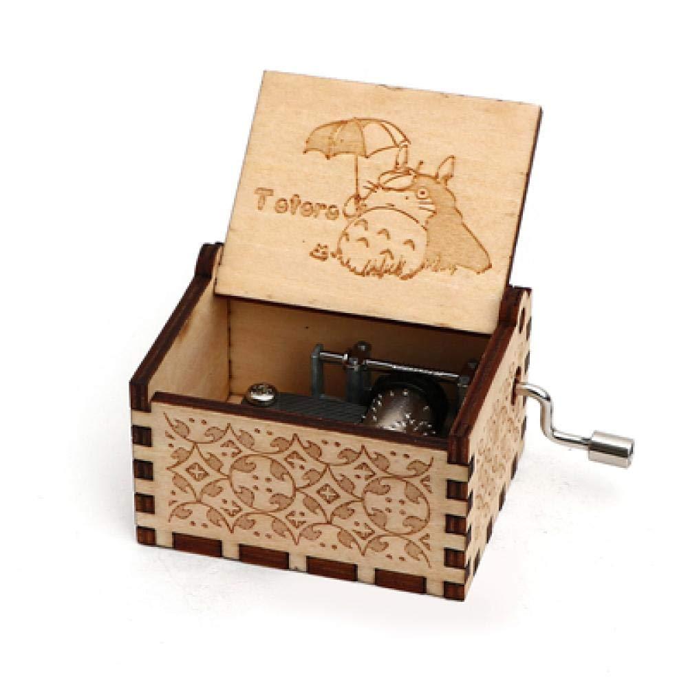 FGHFG Sankyo Caja de música Totoro Merry Go Ronda de la Vida Caja Musical Tema Manivela Movimiento Navidad Boda Regalo Decoración C: Amazon.es: Hogar