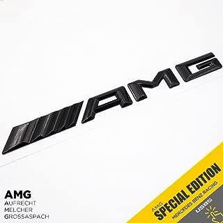 New Style Mercedes-Benz AMG Emblem 3D ABS Black Trunk Logo Badge Decoration Gift (Gloss Black)