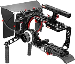 CAMTREE Blackmagic Ursa Mini Handheld Camera Cage Shoulder Pad Mattebox Follow Focus Kit w top Handle Tripod Mounting Plat...