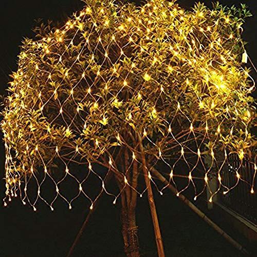 2 * 3 m Kupfernetz Netze Gitter Laterne LED Lichterketten Außenleuchten, Rasen, Garten, dekorative Netto-Lichter Hochzeit Warm White