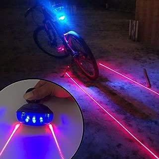 KORADA 5led+2laser Cycling Safety Bicycle Rear Lamp Waterproof Bike Laser Tail Light Headlight Warning Lamp Flashing