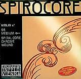 Thomastik cuerda suelta para 4/4 violín spirocore - cuerda mi núcleo en espiral, entorchado de acero-cromo, fuerte.