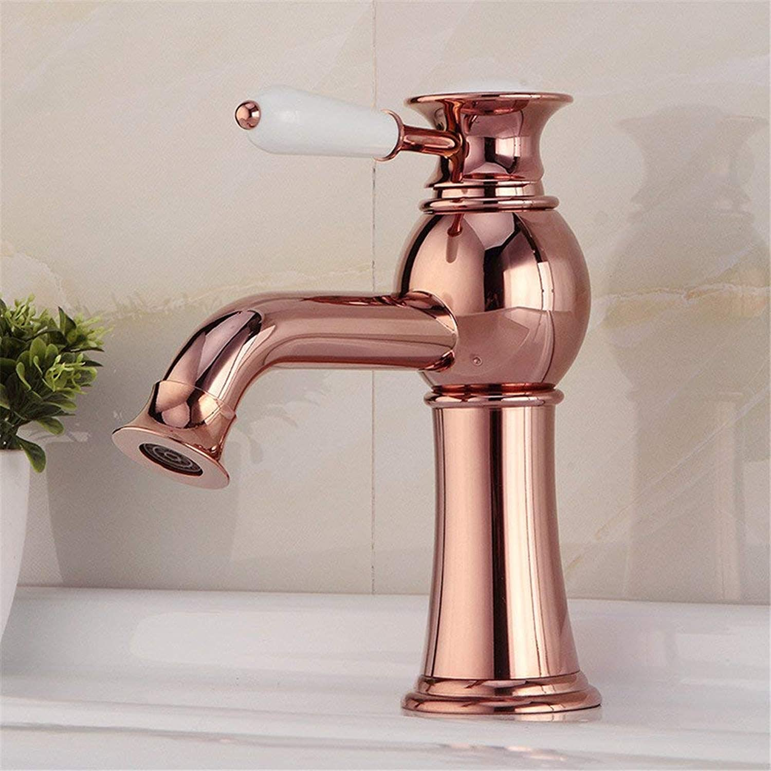 Oudan European Antique gold-Plated Faucet Hot and Cold Taps European Sanitary Ware Cabinet Basin Faucet Bathroom Basin Mixer (color   -, Size   -)
