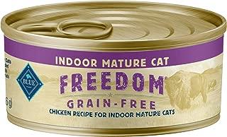 Blue Freedom Mature Pate Indoor Grain Free Chicken Wet Cat Food 5.5-Oz (Pack Of 24)