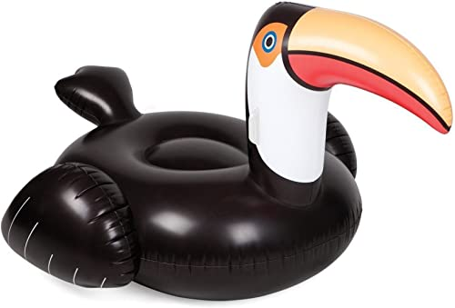 DFB 0.3mm Inflatable Adult Mouthbirds Floating Bed Inflable noir boispecker Lit Flottant plage Leisure voyage Home