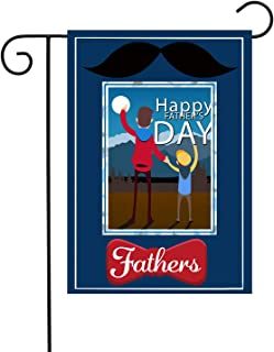 """Chien-Min666 Happy Father's Day Outdoor Decorative House Yard Flag 12"""" W x 18"""" H (Blue)"""