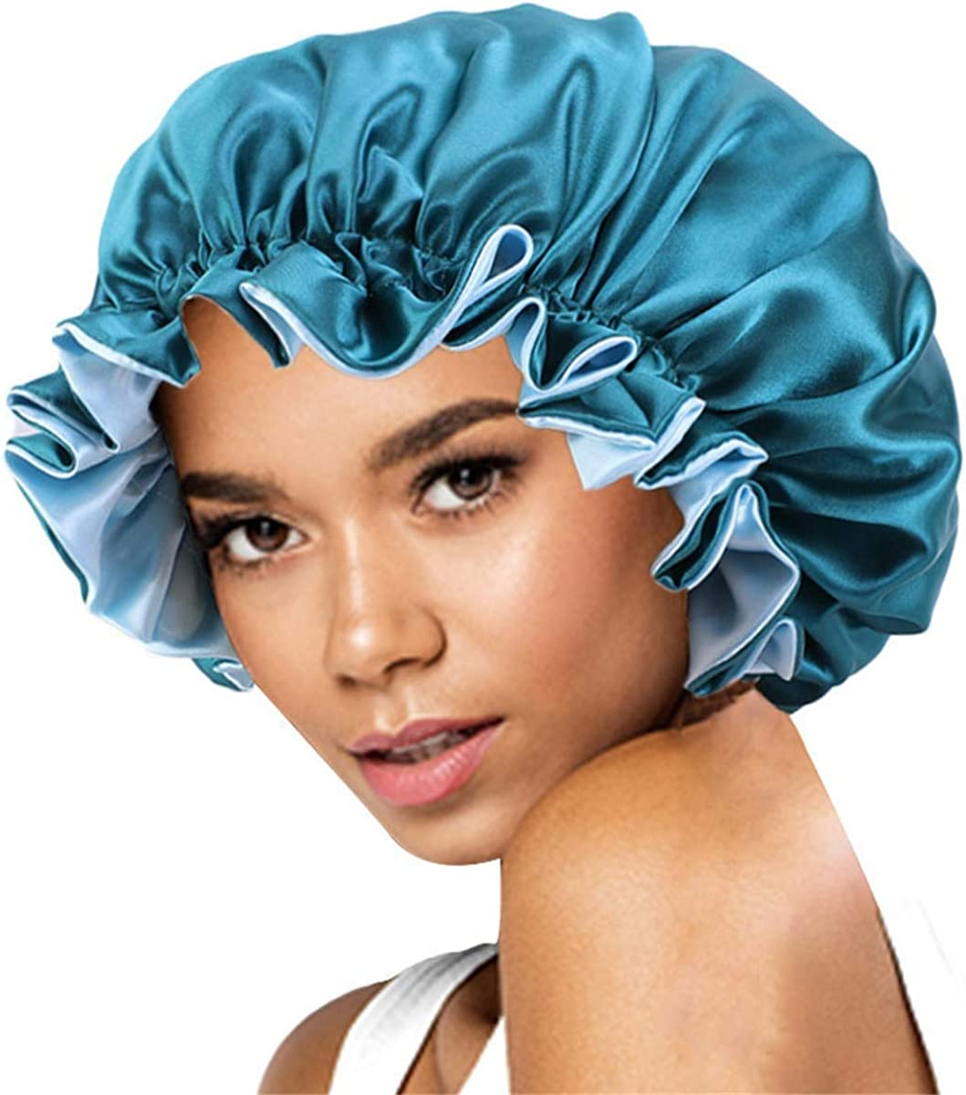 HZUX Double Side Sleep Cap Elastic Cap for Night Sleeping Hair Chemo Cap Hair Loss Head Scarf Wrap