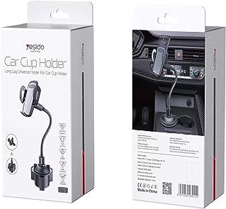 Wtech Yesido C112 Car Cup Holder Long Leg 360 ° Rotation Flexible Arm Gooseneck Car Universal Mobile Holder+Air vent Mount...