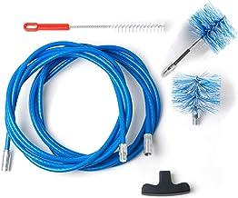 BARETTO Pelletkachel reinigingsset - 6 meter verlenging - 90° - 2 nylon borstels 80mm (1 standaard en 1 flex)