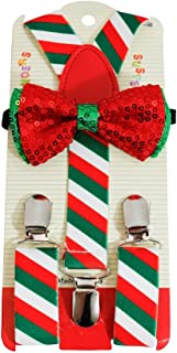 Christmas & Holiday Bowties & Suspender Combos Adult Kids Mens Women Kids Baby