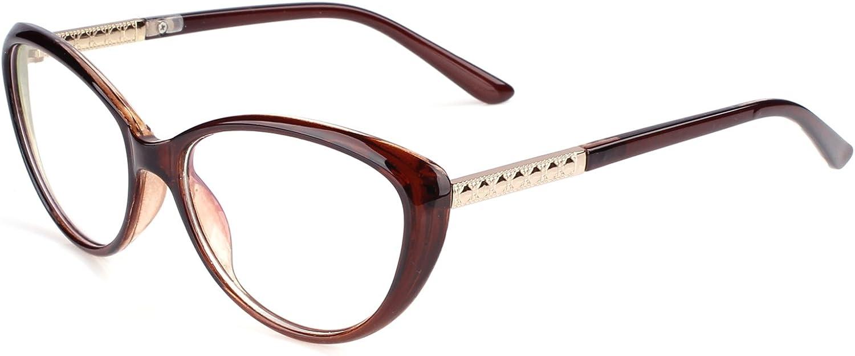 Agstum Womens Cat eye Glasses Frame Optical Eyeglasses Clear lens