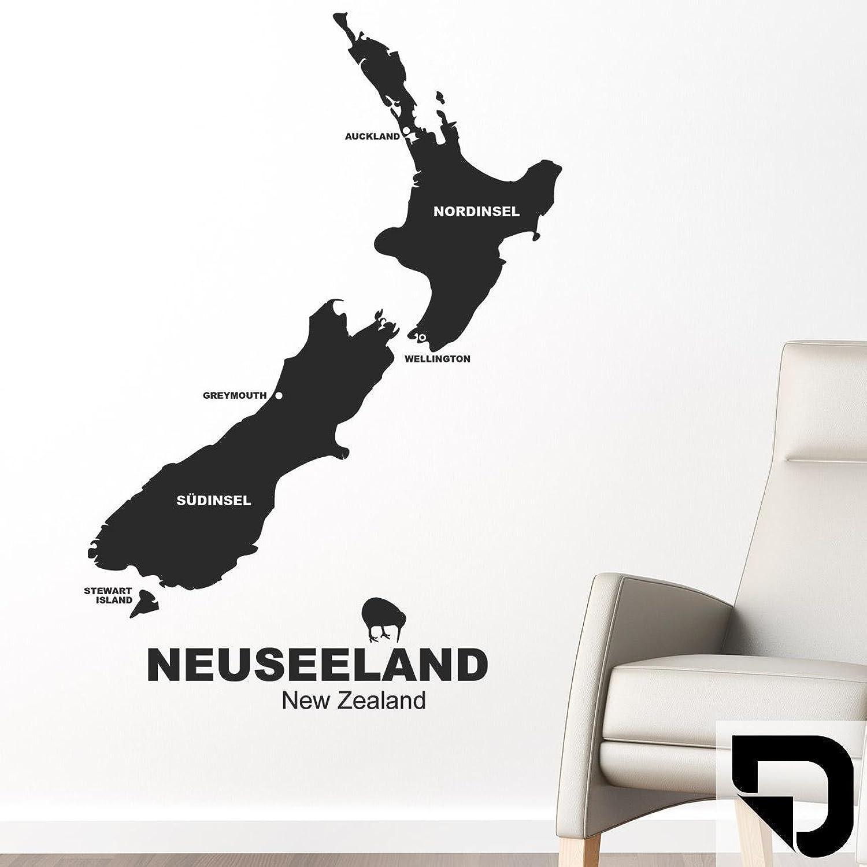 DESIGNSCAPE® Wandtattoo Neuseeland 83 x 120 cm (Breite (Breite (Breite x Höhe) schwarz DW806015-M-F4 B01EYJEAGM 4e5189