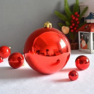 Red Christmas Ball, Christmas Baubles Pendant Shatterproof Ornament Christmas Hanging Ball, Lightweight Durable, Easy to ...