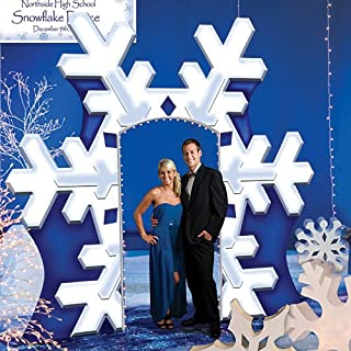 Giant Winter Snowflake Arch Standup Photo Booth Prop Background Backdrop Party Decoration Decor Scene Setter Cardboard Cutout
