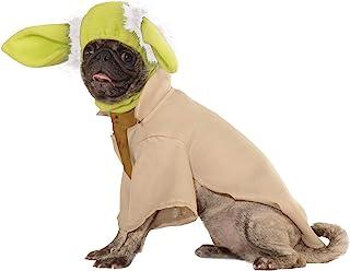 "Rubie's Pet's Star Wars Yoda Dog Costume, Medium, Neck to Tail 15"", Chest 20"""
