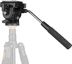 Pro Video Tripod Fluid Head, VT-1510 Camera Action Drag Pan Head with Sliding Plate 1/4