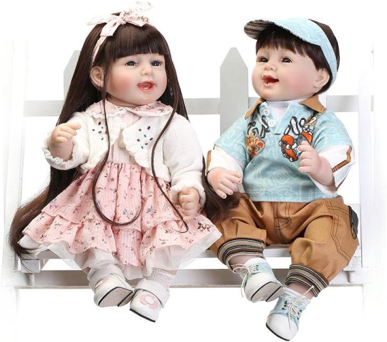 QXMEI 22 Inch Lifelike Reborn Baby Dolls Realistic Handmade Babies For Kids Toys 55 Cm,blueePink
