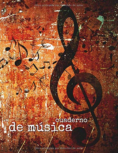 Cuaderno de música: Libreta Notación Musical,12 pentagramas por pagina
