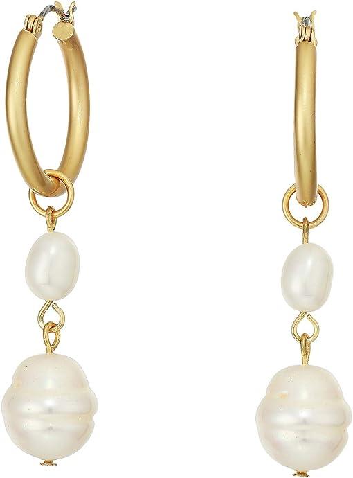 12K Soft Polish Gold/Ivory Fresh Water Pearl
