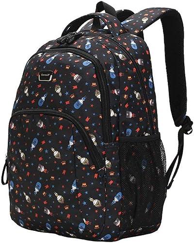 Schultaschen, Jungen Und mädchen, Wasserdichter, Leichter Campus-Rucksack (Farbe   Schwarz Größe   28.5cm42.5cm19cm)