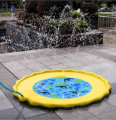 GuoQiang Zhou Piscina Inflable, 67'/ 170cm Splash Pad Kids Sprinkler, Sprinkle and Splash Play Mat Pad Toy for niños