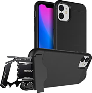 Olixar for iPhone 11 Tough Case - with 26 in 1 Survival Multi Tool - Protective Armour Cover - Credit Card Slot & Built in Stand - X-Ranger - Black
