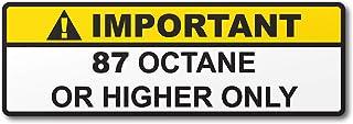 برچسب برچسب اخطار چاپی اخطار چاپی مخزن سوخت بنزین 87 اکتان یا بنزین بالاتر (2)