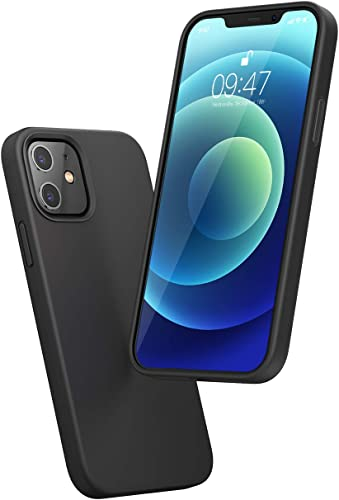 high quality UGREEN 2021 Compatible with iPhone 12 Pro wholesale Liquid Silicone Case Soft Edges Shockproof and Anti Drop Protection Case Slim Thin Case 6.1 Inch 2020 Black sale