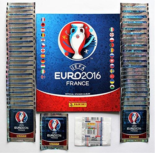 Panini Euro 2016 Frankreich - 50 Tüten / 250 Sticker + Leeralbum