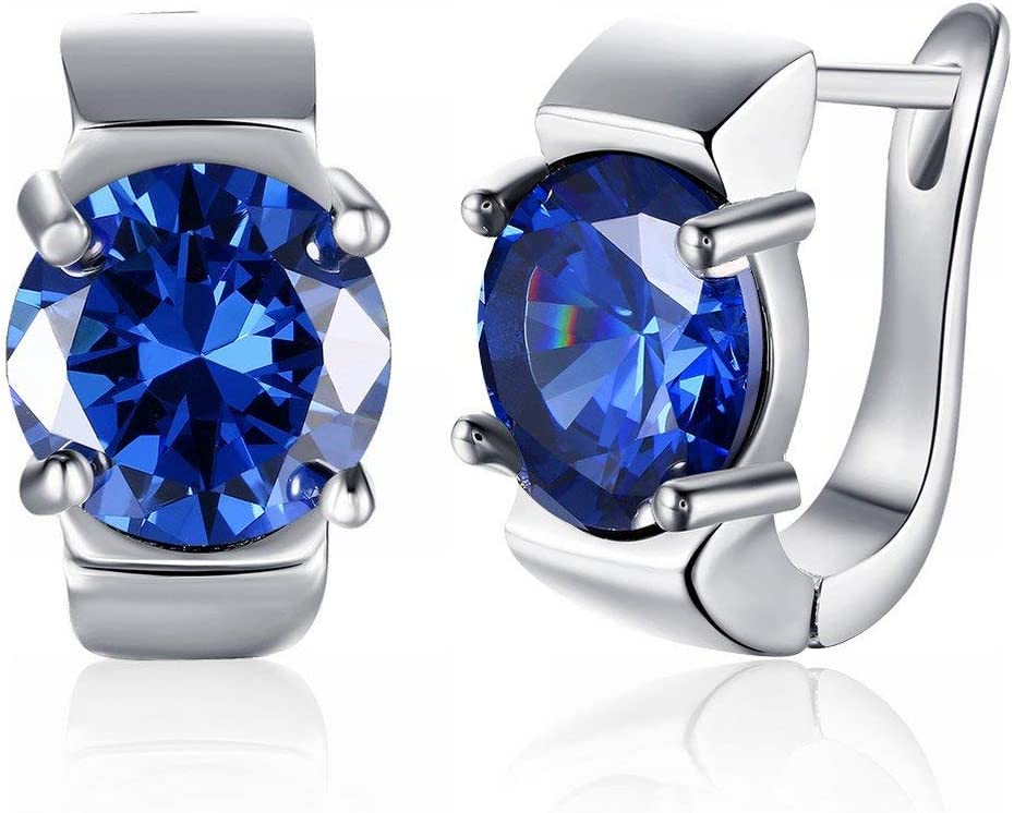 Urns Ashes Funeral Max 74% OFF K Gold Zircon Spasm price Round Earrings Drill Roman Blue