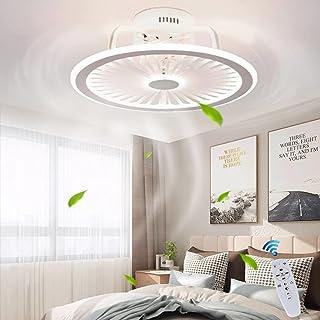 Plafondventilator met verlichting, met afstandsbediening, dimbaar, dimbaar, windsnelheid, moderne led 40 W, plafondlamp, s...
