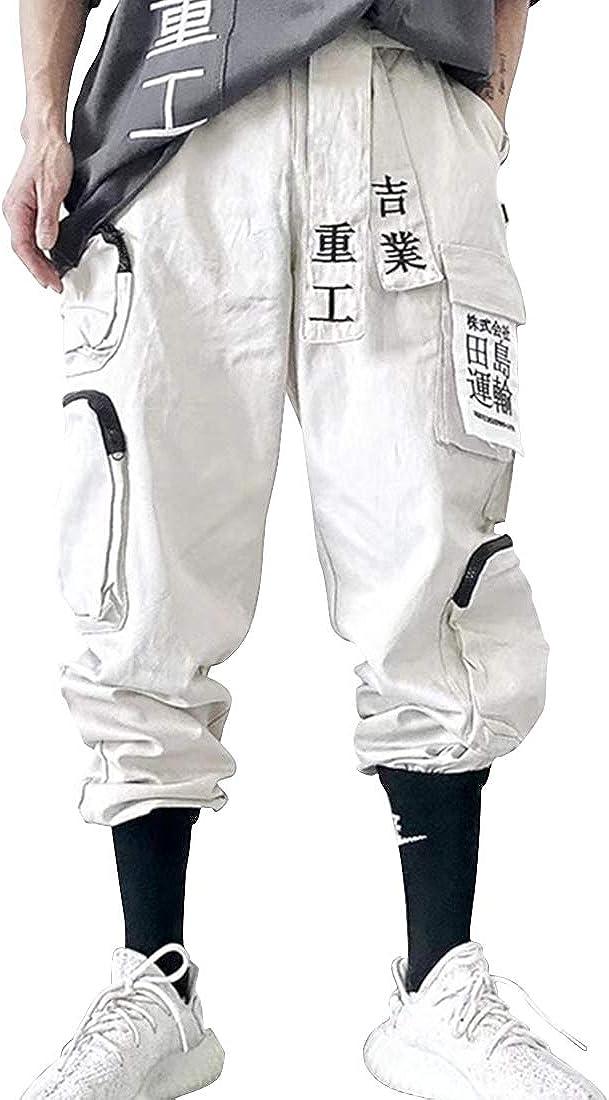 Aelfric Eden Men's Cargo Joggers Pants Casual Hip Hop Sweatpants Japanese Harajuku Streetwear with Multi Pockets