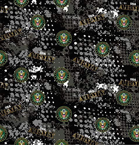 US Military Cotton Fabric with Abstract Geometric Design-Sold by The Yard (Army)