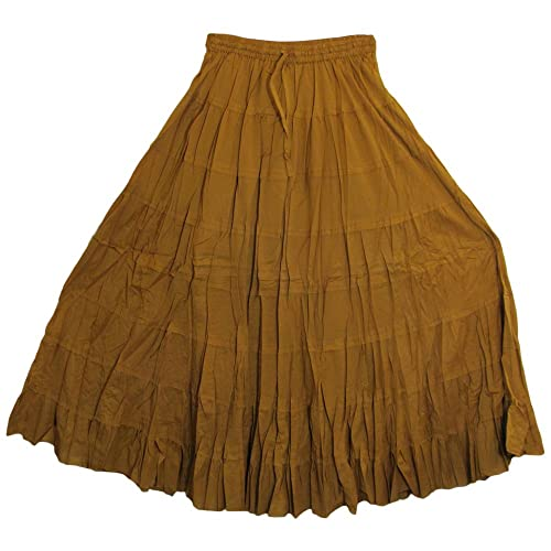 2b1b48ed2 Yoga Trendz Missy Plus Bohemian Gauze Cotton Tiered Crinkled Broomstick  Long Skirt Ombre