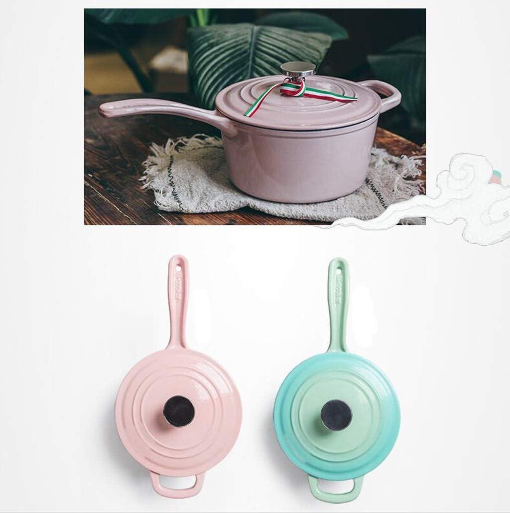 QXX Complément Alimentaire pour Soupe antiadhésive pour Pot à Lait en Fonte Multifonctions (Couleur : Pink) Pink