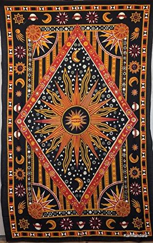 India Hecho A Mano Hippie Boho Decoración Bohemio Gypsy Decoración Boho Mandala Colgante de Pared Toalla de Playa Psicodélica solo Tapiz de Playa