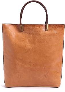 النساء جلد طبيعي حقائب فاخرة واحدة الكتف حقائب للسيدات الطبقة الأولى جلد البقر المرأة حقائب الأزياء عارضة حمل (Color : Yel...