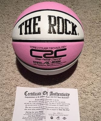 """Official """"The Rock"""" Women's 28.5"""" Composite Leather Basketballs - EXCLUSIVE PATENTED UNIQUE DEEP PEBBLE CHANNEL DESIGN - COMES W/ CERTIFICATE OF AUTHENTICITY."""