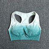 B/H Leggings Yoga Set Chandal,Conjunto de Yoga Sujetador Deportivo + Leggings Ropa de Gimnasia para Mujeres Entrenamiento sin Costuras Ropa Deportiva de Fitness -BraGreen_M
